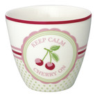Green Gate Latte Cup Cherry mega white