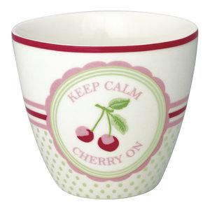 Green Gate Latte Cup Cherry mega white