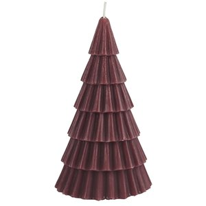 IB Laursen Kerze Tannenbaum Bordeaux groß