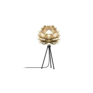 UMAGE Tischlampe Silvia mini brushed brass Table Tripod  black