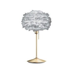 UMAGE Tischlampe Eos mini light grey mit Champagne Table Stand