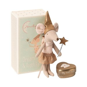 Maileg Tooth Fairy Big Sister Mouse in Metal Box