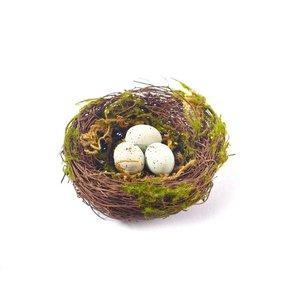 Dekonest Gras/Eier 9 cm