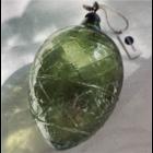 Madam Stoltz Recycled Glass Egg green