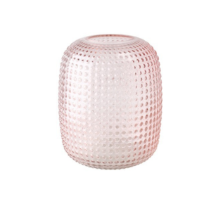 Glasvase Struktur rosa 16x20h