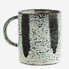 Madam Stoltz Stoneware Mug offwhite blue
