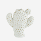 Madam Stoltz Cactus Vase white beige