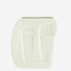 Madam Stoltz Vase Face Imprint Stoneware white