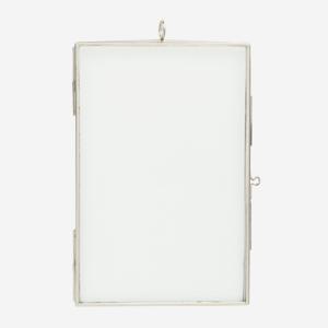 Madam Stoltz Photo Frame Silver Iron Glass 10x15