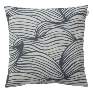 Spira of Sweden WAVE Cushion Cover blue 47x47 cm