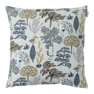 Spira of Sweden FLORA Cushion Cover blue 47x47 cm