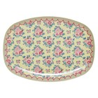 Rice Rect. Melamine Plate Dutch Rose