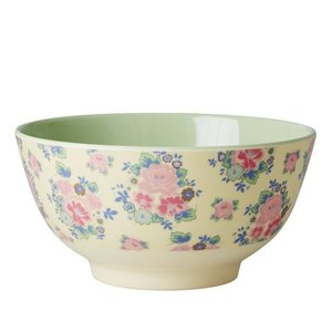 Rice Melamine Bowl Dutch Rose