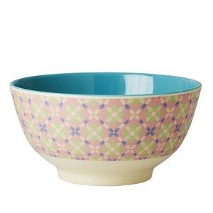 Rice Melamine Bowl Flower Tile