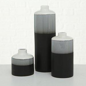 Vase Brixa Black, 3tlg. 12-29 cm