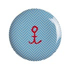 Rice Melamine Plate Sailor Stripe Anchor