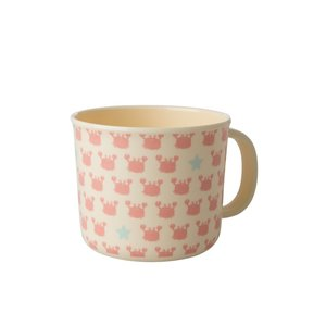 Rice Melamine Baby Cup Crabs and Starfish