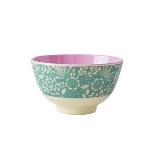 Rice Melamine Bowl small Fern and Flower
