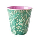 Rice Melamine Cup Fern and Flower