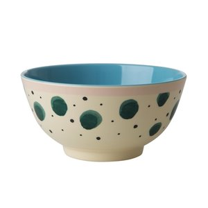 Rice Melamine Bowl Watercolor Splash