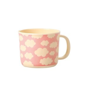 Rice Melamine Baby Cup Cloud pink
