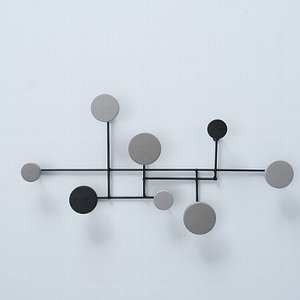 Garderobe Eisen grau schwarz 62 x31x5 cm