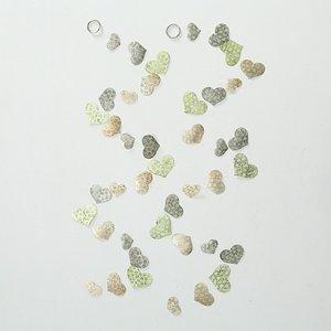 Girlande Herz perlmuttgrün, 180 cm