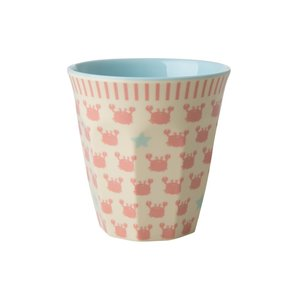 Rice Melamine Kids Cup Crabs and Starfish