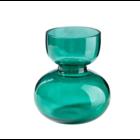 Glasvase Sanduhr smaragd