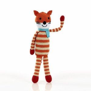 Pebble Fox Rattle orange 31 cm