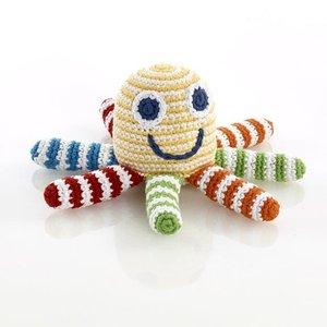 Pebble Octopus Rattle yellow multi 15x8 cm
