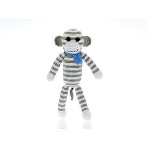 Pebble Monkey Rattle light grey 31 cm