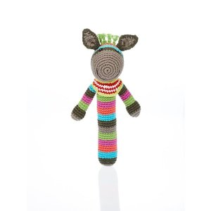Pebble Donkey Stick rattle multi 18 cm