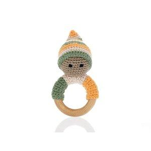 Pebble Wooden Ring Pixie khaki 14x8 cm