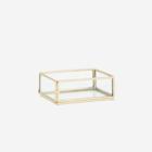 Madam Stoltz Rectangular Glass Tray golden