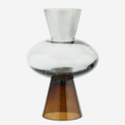 Madam Stoltz Two Tone Glass Vase grey/brown