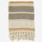 Madam Stoltz Striped Woven Throw Ecru/Honey 125x150