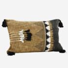 Madam Stoltz Printed Cushion Cover Tapernade