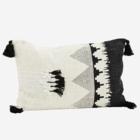 Madam Stoltz Printed Cushion Cover Off White