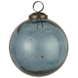 IB Laursen Glaskugel Pebble petrol D: 9,5 cm