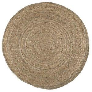 IB Laursen Teppich rund Jute natur D: 120 cm
