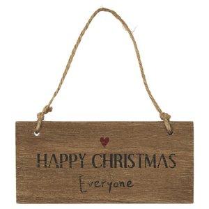 IB Laursen Holzschild Happy Christmas Everyone