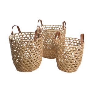 Au Maison Basket Amar Natural, Set of 3, D:30-40 cm