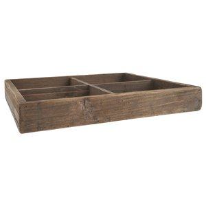 IB Laursen Holztablett/-kiste mit vier Fächern