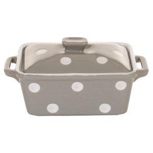 Isabelle Rose Beige Butter Dish