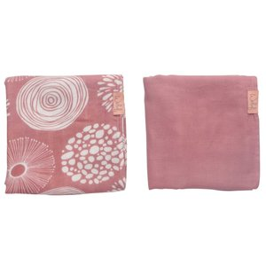Swaddle 80x80 Sparkle Rose, Pack of 2