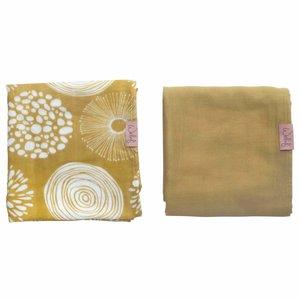 Swaddle 80x80 Sparkle Sweet Honey, Pack of 2