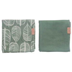 Swaddle 80x80 Beleaf Sage green, Pack of 2
