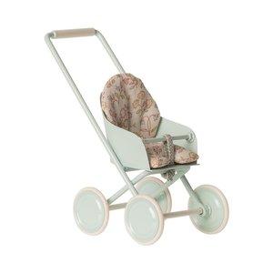 Maileg Stroller Micro Mint H: 12 cm