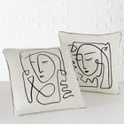 2er-Set Kissen Faces Pica inkl. Füllung